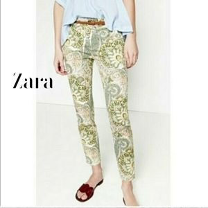 🎀 Zara Floral Paisley Skinny Ankle Pant